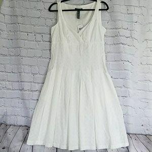 Lauren Ralph Lauren  size 10 white eyelet sress